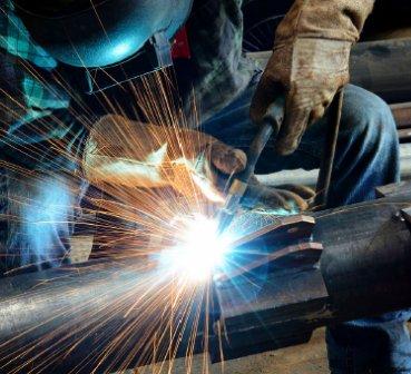 welder working on a piece of metal